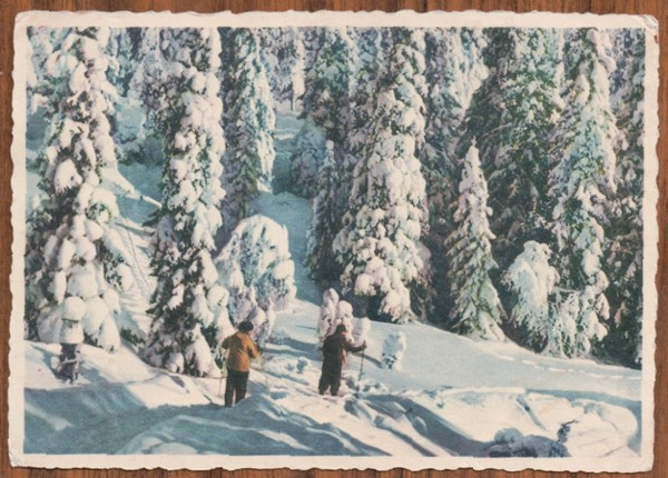 Edvin Winter postcard to his brother Otto Winter - front