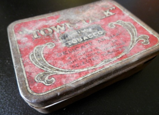 old Town Talk tobacco tin