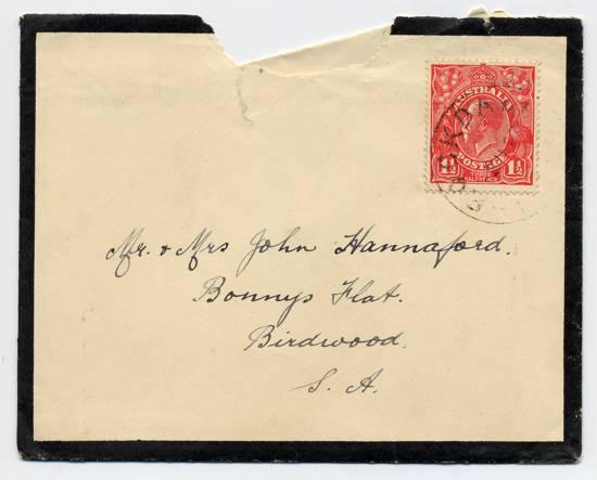 Return Thanks - envelope Dec 1926