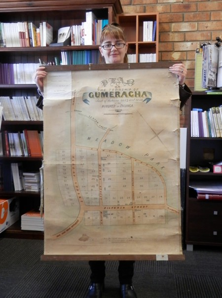 to give you a sense of the size of this thing, here's me holding the map