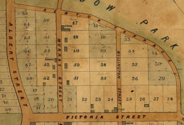 Gumeracha Map 1860