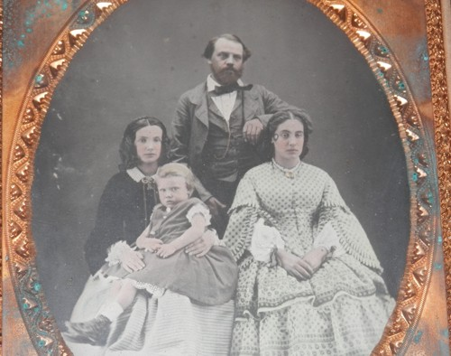 close up of the Randell daguerreotype photo
