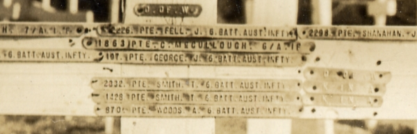 Charles Spurgeon McCullough cross at Gallipoli enlarged 600