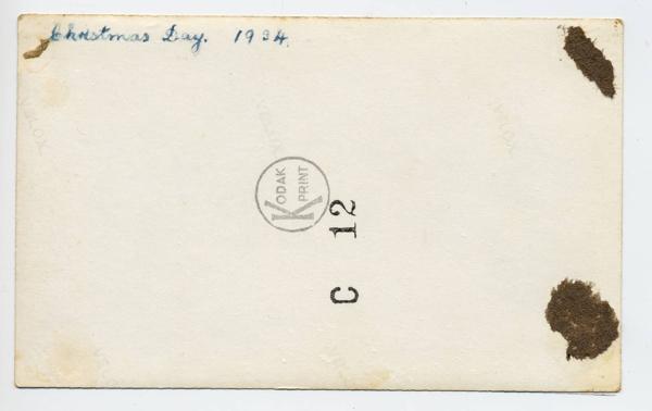 0041b JB Randell, Nancy, Hartley, Darrel Christmas Day 1934