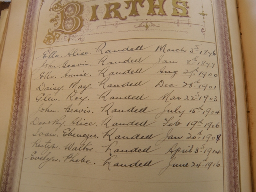 the Birth entries