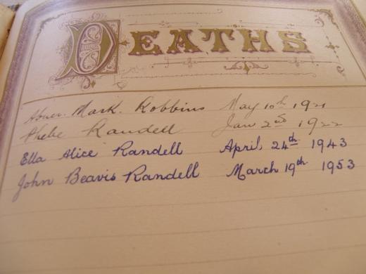 the Death entries
