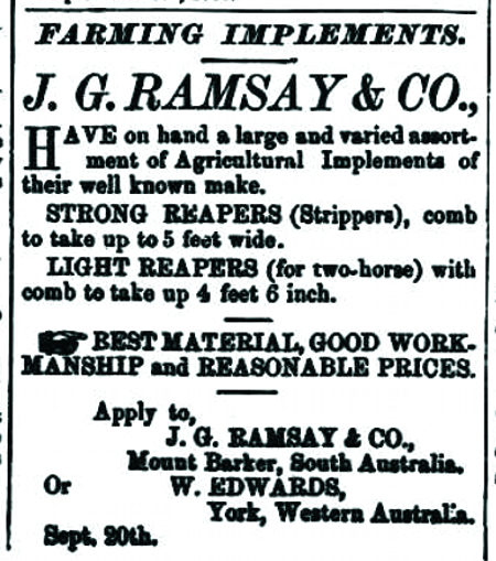 advert in The West Australian, 8 October 1880