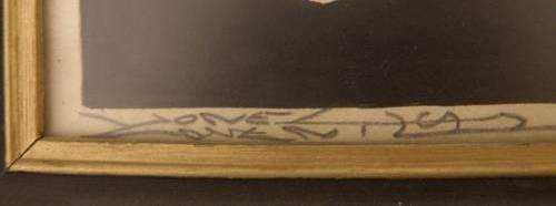 Lionel Coventry signature on Ron Phillips caricature