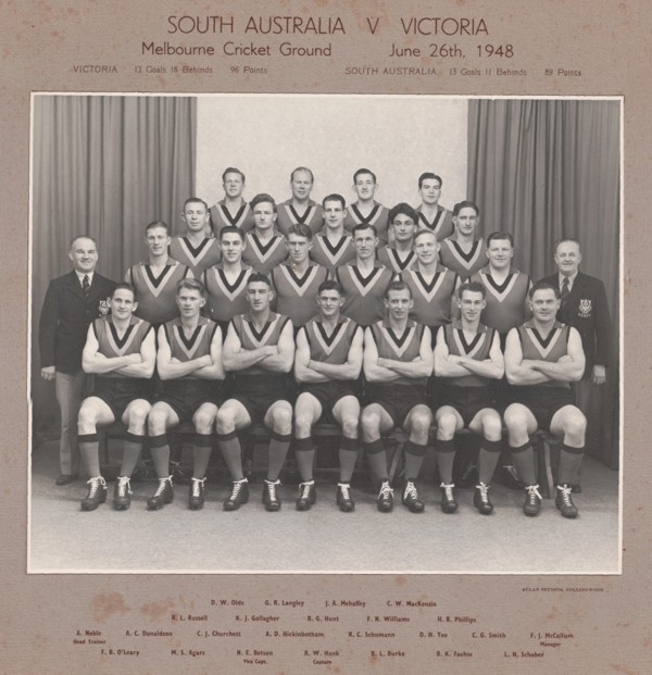 South Australian State Football Team - 1948