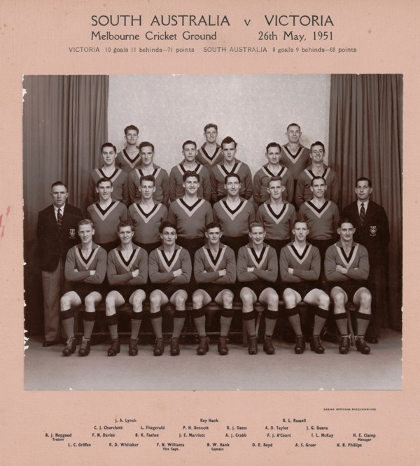 South Australian State Football Team - 1949