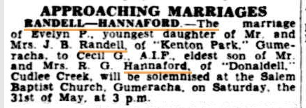 Family Notices. (1941, May 28). The Advertiser (Adelaide, SA : 1931 - 1954), p. 8. Retrieved April 6, 2013, from http://nla.gov.au/nla.news-article45006592