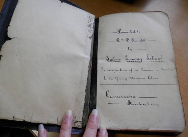 inscription in Phebe's bible