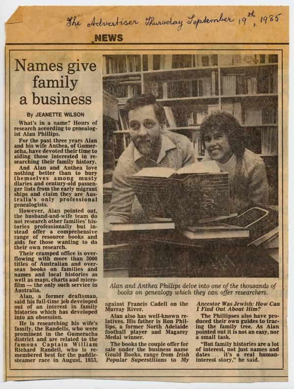 Gould Books - Advertiser 19 Sep 1985