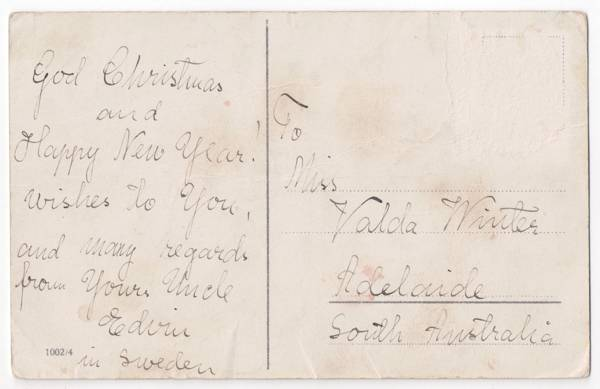 Christmas card from Edwin Winter