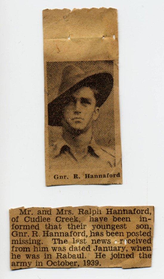 cuttings from The Advertiser, Monday 20 July 1942