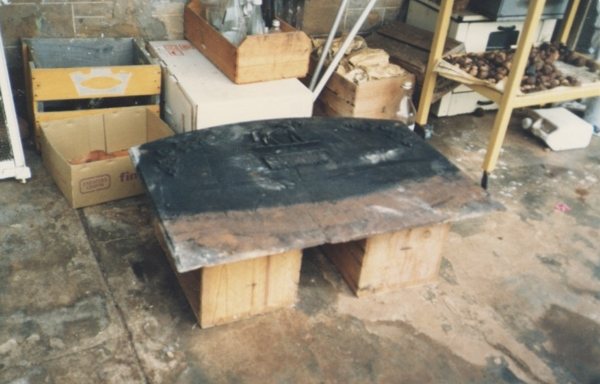 somehow we got it out - this is as it was in 1986 when we discovered it